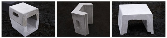 Amalgamated Concrete Precast Cement Beanie Blocks