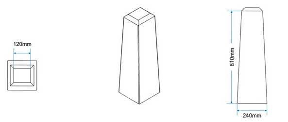 Amalgamated Concrete Precast Cement metro-bollard-drawing