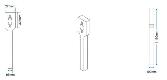 Amalgamated Concrete Precast Cement valve markers-drawing